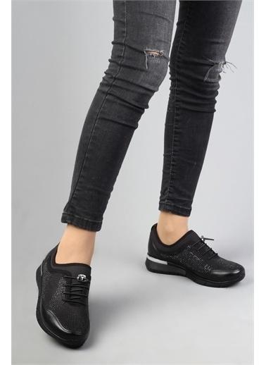 Modabuymus Modabuymus Kadın  Taşlı Spor Ayakkabı - Stonestar Siyah